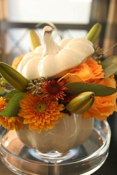 Ceramic pumpkin centerpiece inspiration