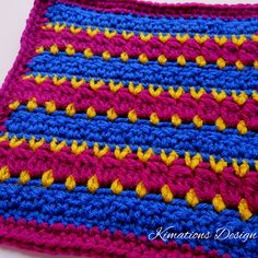 "Ravelry: Anna 8"" Square pattern by Kimberly Saunders"