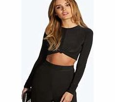 boohoo Knot Front Long Sleeve Crop - black azz08315 Team toned down trousers with an eyes- on-me evening top for the perfect party pairing. Make the move to midnight dressing with muted tones and icy metallic hues, statement sequins and entrance-making http://www.comparestoreprices.co.uk/womens-clothes/boohoo-knot-front-long-sleeve-crop--black-azz08315.asp