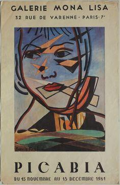 Bérard Christian - affiche Mourlot - expo galerie Lucie Weil 1968