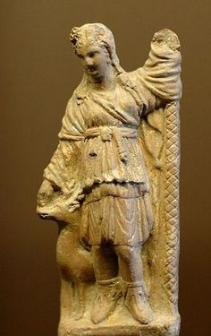 Terracotta statue of Artemis as Huntress - found Smyrna, circa 1st century BC - at the Louvre Museum