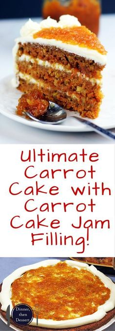 carrot cake with carrot cake jam filling luscious nut free carrot cake ...