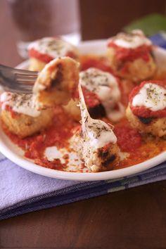 Chicken Parm Meatballs - low carb/gluten free