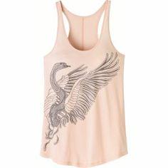 Danskin Pink Vest Bird Print