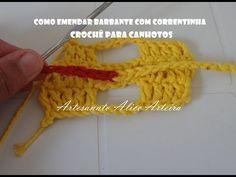 COMO EMENDAR BARBANTE COM CORRENTINHA CROCHÊ PARA CANHOTOS - YouTube
