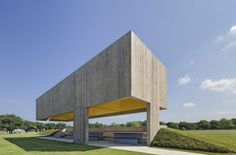 Webb Chapel Park Pavilion / Cooper Joseph Studio:  Good concrete, color, light, and an interesting structure, and in the US none-the-less. Texas even!
