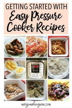 Easy pressure cooker recipes are the best way to get started using your pressure cooker! This comprehensive resource will get you started in no time!