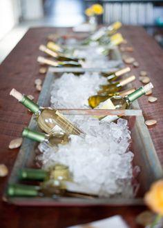 bateas+hielo+botellas. Lindo!
