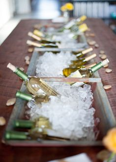 Use a cleaned-up vintage feeder as a table runner - double as wine storage / ice bucket! Get 12 more DIY Table Runners ideas here: http://entertaining.about.com/od/tableaccessories/ss/12-Crafty-Table-Runners.htm