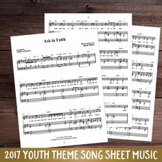 Ask in Faith– Piano/Sheet Music   This is the piano/sheet music for Hilary Week's 2017 LDS Mutual Theme duet,Ask in Faith.   This song is great to add to your personal music library or for performances.     See the song musicHERE. See the minus trackHERE. See the combo with the song, minus track, and sheet musicHERE.   This product is also included in our Hilary Weeks Combo packageHEREor our 2017 Mutual Theme Ultimate KitHERE   1 license = for yourself or household.Each additional…
