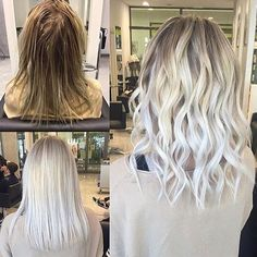 Icy Platinum Blonde Hair Color Informations About 20 Most Popular Short Hairstyles For Women - Style Platinum Blonde Hair Color, Icy Blonde, Brown Blonde Hair, Blonde Color, Platinum Blonde Highlights, Blonde Foils, Blonde Bangs, Brunette Color, Light Blonde