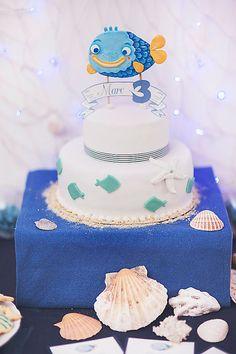 Nautical themed birthday party FULL OF CUTE IDEAS via Kara's Party Ideas | KarasPartyIdeas.com Full of decorating ideas, cakes, cupcakes, de...