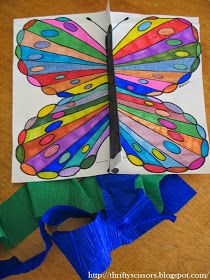 Thrifty Scissors: Craft your very own butterfly kite!