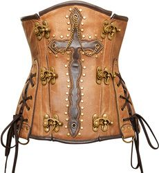 King's Cross Real Leather Underbust Corset