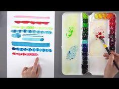 [수채화기초] 터치에 따른 색감변화 알아보기 - YouTube