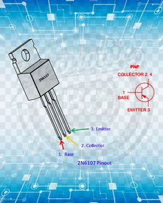 2N6107 Transistor Pinout Electronics Projects, Electrical Projects, Electronics Components, Electronic Engineering, Electrical Engineering, Android Secret Codes, Electrical Circuit Diagram, Power Supply Circuit, Electronic Schematics