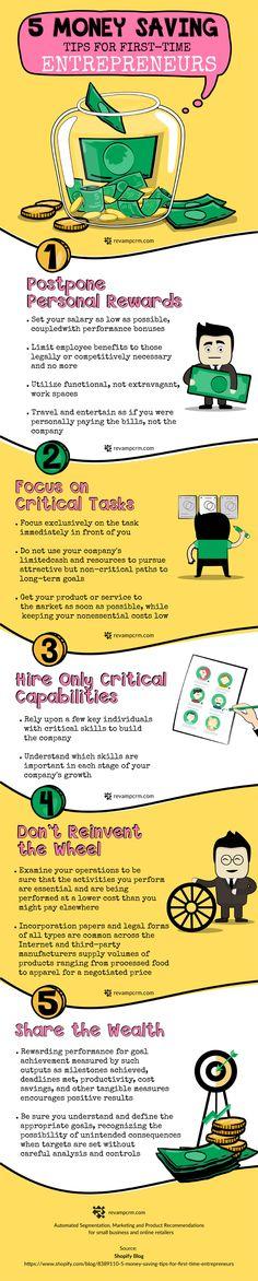 2319e164d5 5 Money Saving Tips for First-Time Entrepreneurs  Infographic