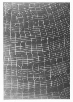 "Vija Celmins, ""Web Ladder"", 2010.  One-plate, one-color mezzotints on Magnani…"