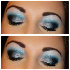 Cheer extreme makeup a little too much dark but cute!