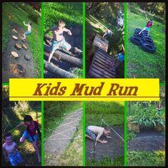 Kid's mud run, mud obstacle course, birthday party ideas, Mason's Mini Muckfest…