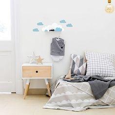 Tresxics Cloud Shelf & Stickers - Blue   Cloud Nursery Wall Shelf   Cloud Wall Shelf