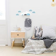 Tresxics Cloud Shelf & Stickers - Blue | Cloud Nursery Wall Shelf | Cloud Wall Shelf