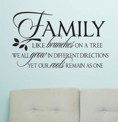 Vinyl Wall Lettering Family Like Branches Grow by WallsThatTalk, $13.00