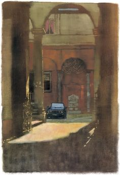 Courtyard car by Bernie Fuchs