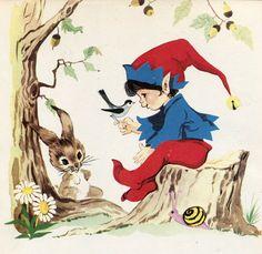 El enanito curioso. Cuentos de Grimm. Toray. 1972