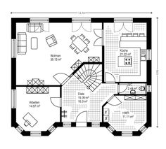 House Layout Plans, Family House Plans, House Layouts, Model House Plan, Small Living, Planer, Floor Plans, Home And Garden, How To Plan