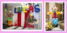 fiesta circo - decoracion con globos - wonkis