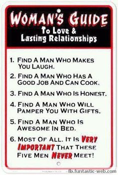 Womens' guide to love, not really inspiring, but hysterical!