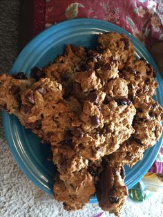 Cranberry oatmeal chocolate chip cookies fresh from the oven.