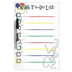 Kids' To-Do List Dry Erase Board Dry Erase Whiteboard, Dry Erase Board, Command Strips, Christmas Gifts For Kids, Pen Holders, Just Do It, Keep It Cleaner, Adhesive, Back To School