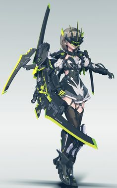 This makes me think of the animé: Seraph of the end Fantasy Character Design, Character Design Inspiration, Character Concept, Character Art, Concept Art, Fantasy Anime, Fantasy Girl, Neko Maid, Arte Cyberpunk