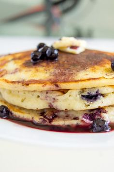The BEST easy recipe for homemade buttermilk blueberry pancakes from scratch! Fluffy, and delicious recipe from Chocolates & Chai #pancakes #recipes