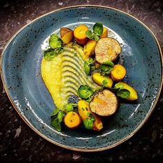 Pork Tenderloin  Apple & mustard puree salt baked vegetables  #pork #porktenderloin #bellinisitaliancafe #amoreitalianrestaurant #newcastleunderlyme #stokeontrent #Staffordshire #thepotteries #steelite #steelitecraft #craft #foodart #theartofplating #chef #francescoalfano #italian #apple #mustard #salt #paprika #potato #food #foodporn #tender #sousvide #restaurant #blue #supportlocal #independent #ciao by bellinisitalian