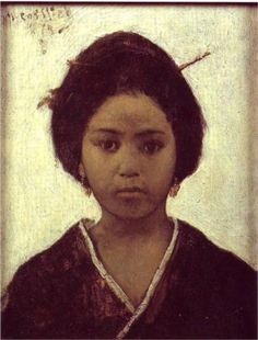 Japanese Woman - Maurycy Gottlieb
