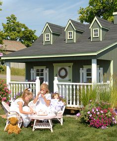 Love this Pennfield Cottage Floored Playhouse Kit on #zulily! #zulilyfinds