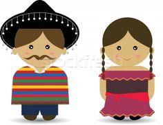 mexican boy and girl cartoon | Mexican Boy & Girl vector illustration © Amy Lau (mintymilk) (#329044 ...