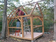 Relaxshacks.com: A NEW timber-framed cottage/cabin/tiny house from David and Jeanie Stiles