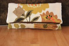 Vintage Fabric foldover clutch bag with by Fruitionbyjennifield, $34.00
