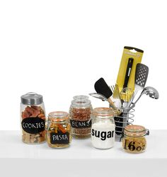 Glass jars and containers in all sizes to store goodies in the kitchen! #BurkesOutlet