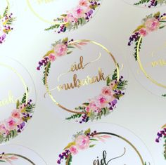 Shine Bright Stickers offers quality foiled stickers for Ramadan, Eid, Hajj, and Umrah with both timeless & modern designs. Eid Favours, Favors, Eid Ul Adha Images, Eid Stickers, Floral Hoops, Ramadan Decorations, Eid Mubarak, Islamic, Bright