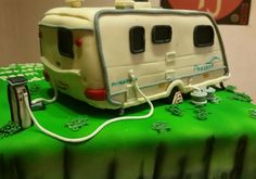 Caravan cake for diamond wedding anniversary