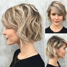 Messy Short Wavy Hair Style