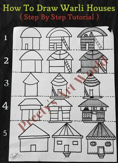 how to draw warli