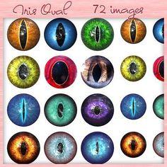 Iris Oval2 - 72 IMAGES DIGITALES PNG HD POUR CABOCHONS - DIG13 : Images digitales pour bijoux par belary