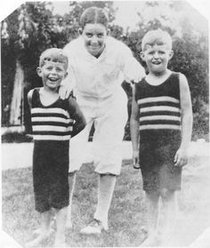 The oldest Kennedy brothers Joseph 'Joe' Kennedy, Jr. (rt., 1915-1944) and John 'Jack' Kennedy (lt., 1917-1963) had a special bond, often playing with each other. Joe Jr was just two years Jack's senior, which made the competition between the two brothers very fierce.