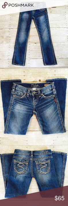 Stylish capris! Silver Jeans Frances Capri pants Great silver jean capris!  Inseam is about 27 inches. Silver Jeans Pants Capris